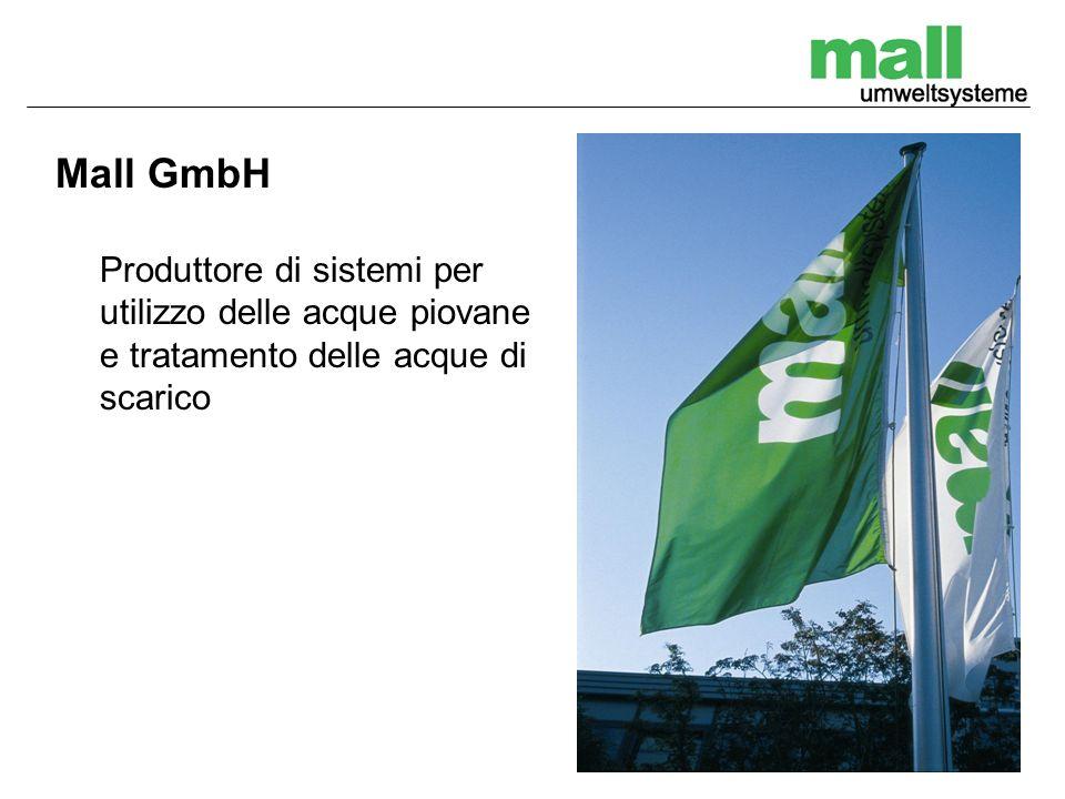 Mall GmbH Produttore di sistemi per utilizzo delle acque piovane e tratamento delle acque di scarico