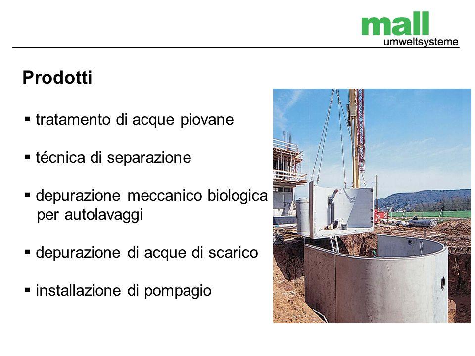 Prodotti tratamento di acque piovane técnica di separazione