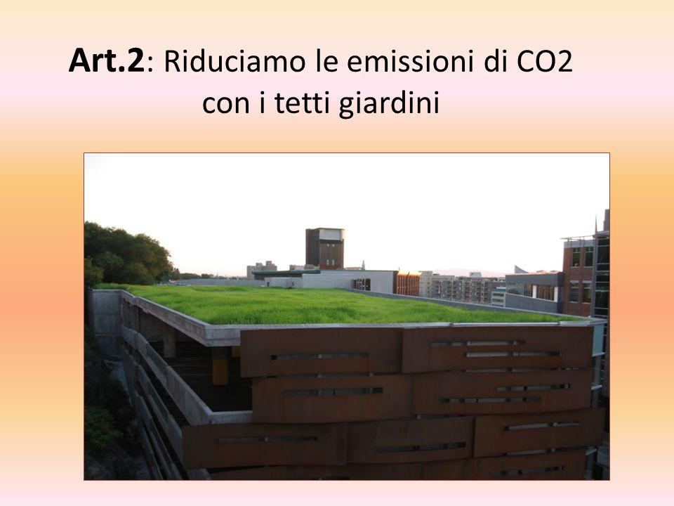 Art.2: Riduciamo le emissioni di CO2 con i tetti giardini