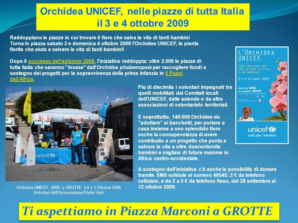 Orchidea UNICEF, nelle piazze di tutta Italia