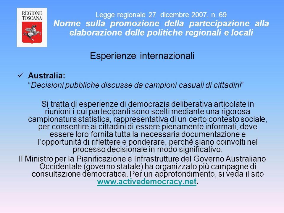 Esperienze internazionali