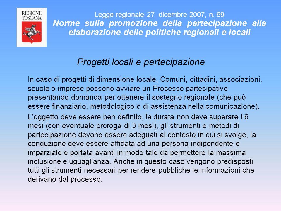 Progetti locali e partecipazione