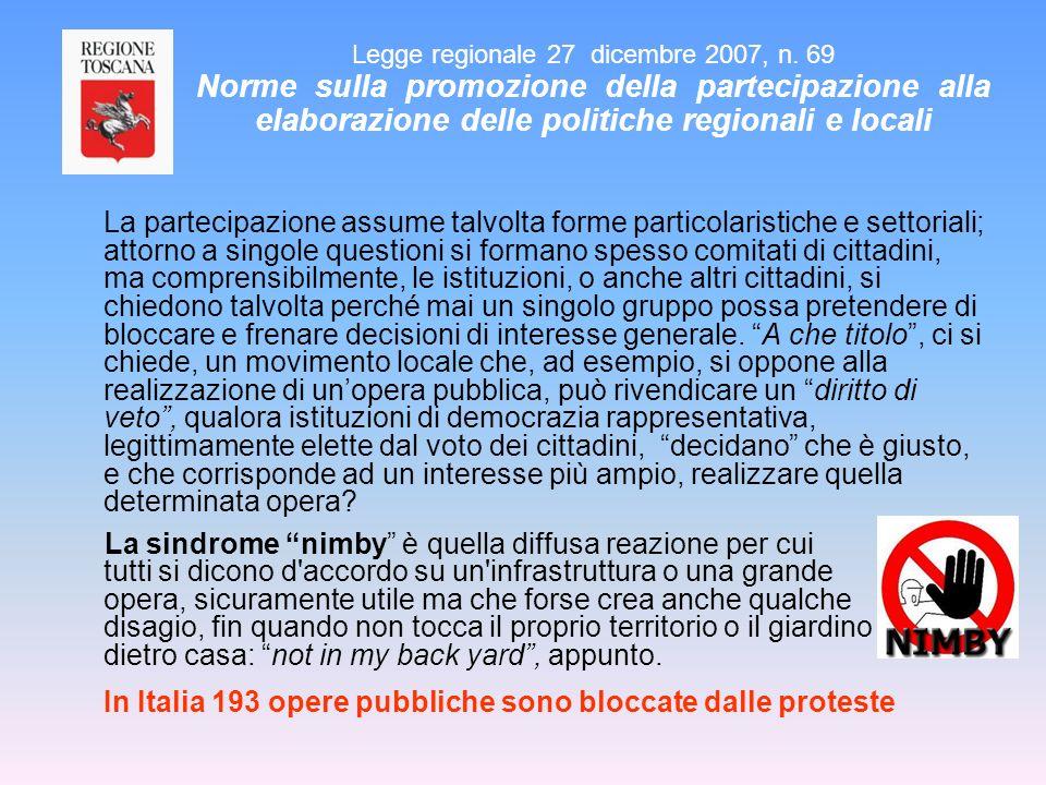 In Italia 193 opere pubbliche sono bloccate dalle proteste