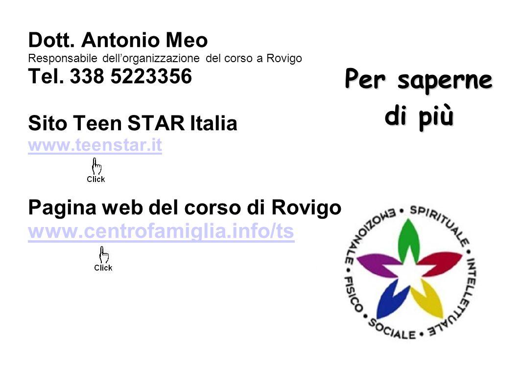 Per saperne di più Dott. Antonio Meo Tel. 338 5223356