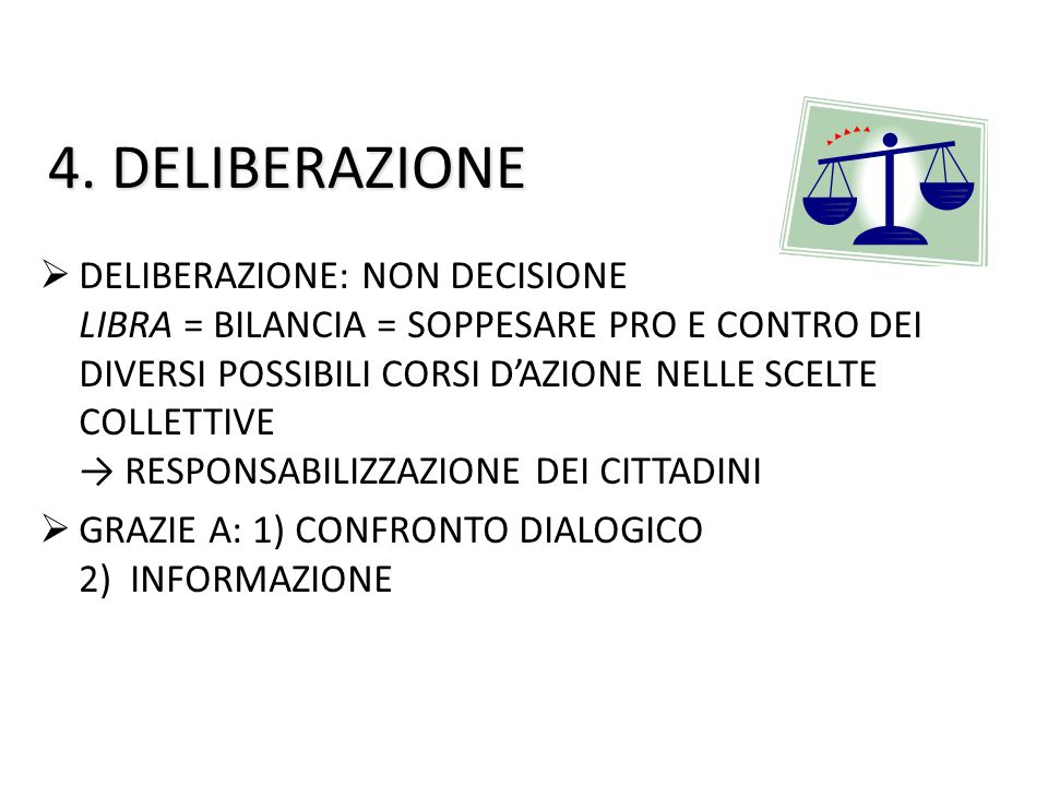 4. DELIBERAZIONE