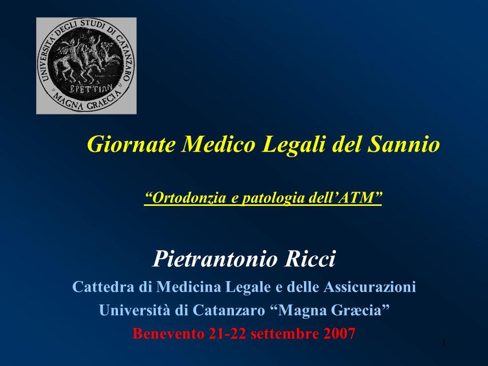 Giornate Medico Legali del Sannio Ortodonzia e patologia dell'ATM