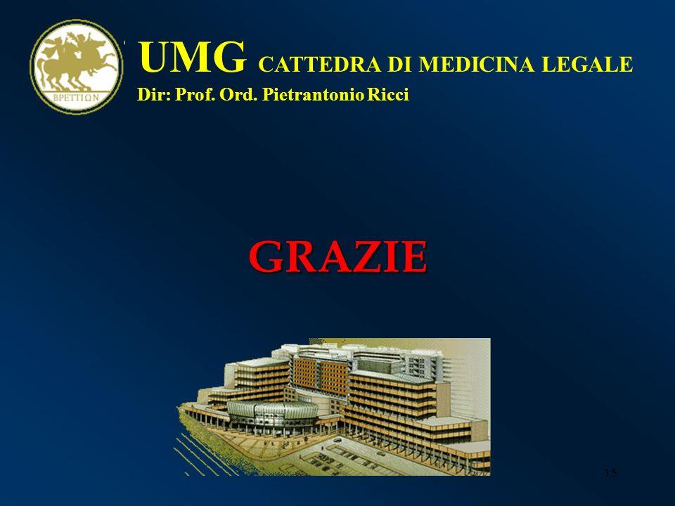 UMG CATTEDRA DI MEDICINA LEGALE