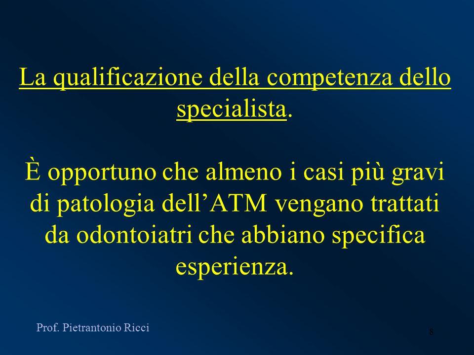 La qualificazione della competenza dello specialista