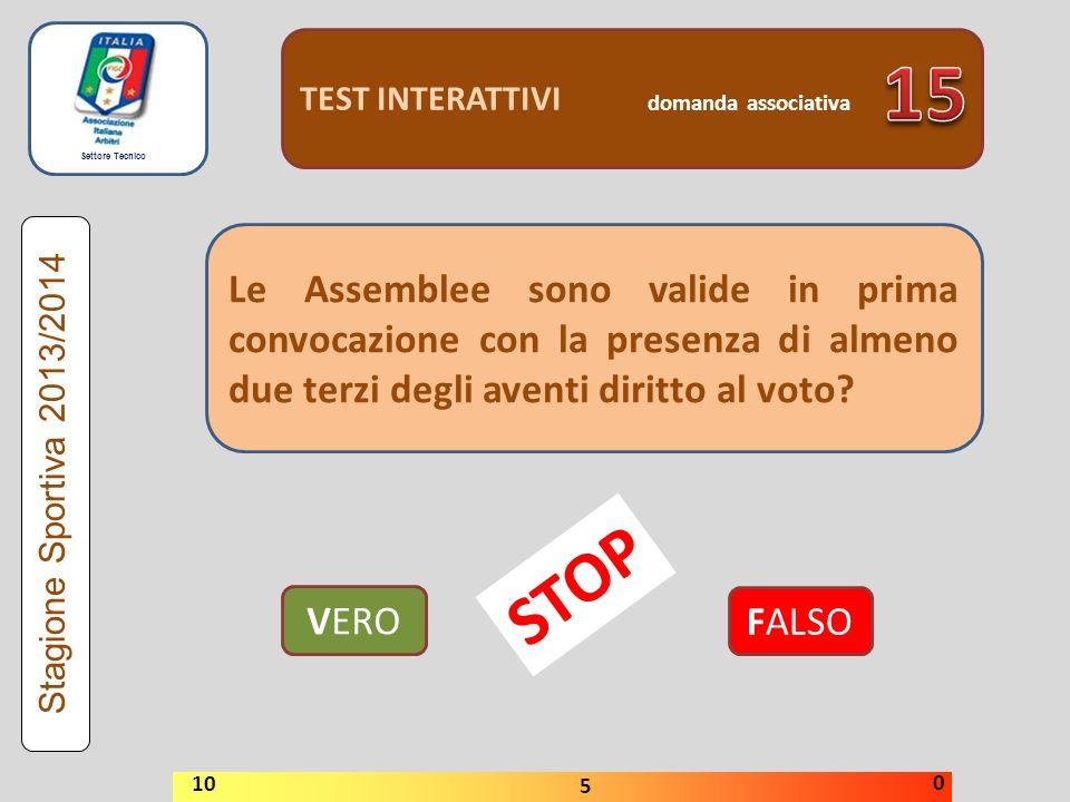 TEST INTERATTIVI domanda associativa