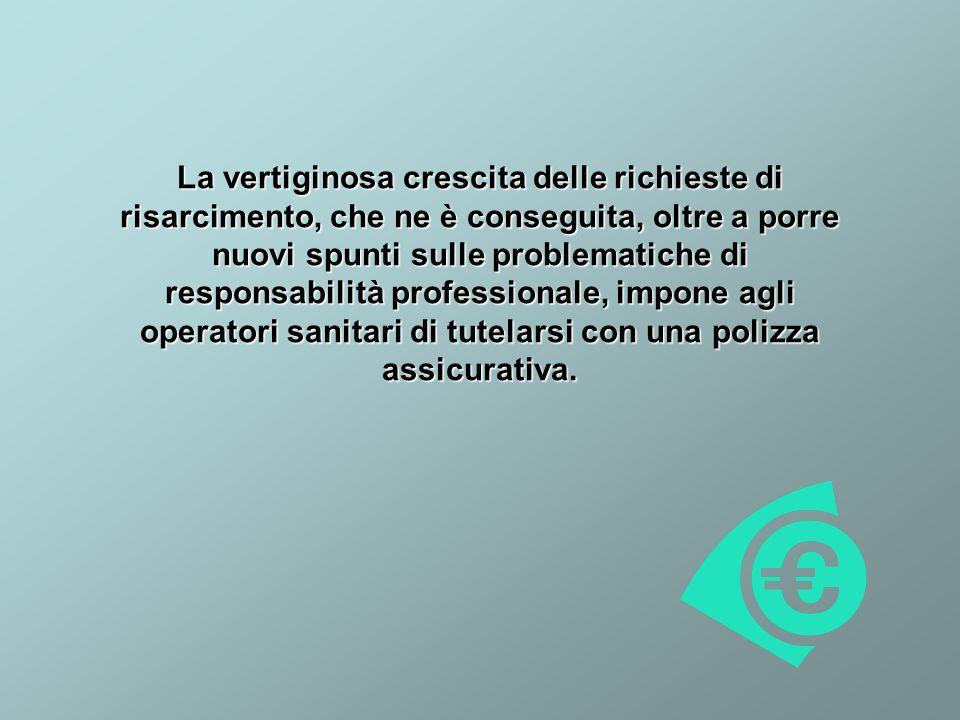 La vertiginosa crescita delle richieste di risarcimento, che ne è conseguita, oltre a porre nuovi spunti sulle problematiche di responsabilità professionale, impone agli operatori sanitari di tutelarsi con una polizza assicurativa.