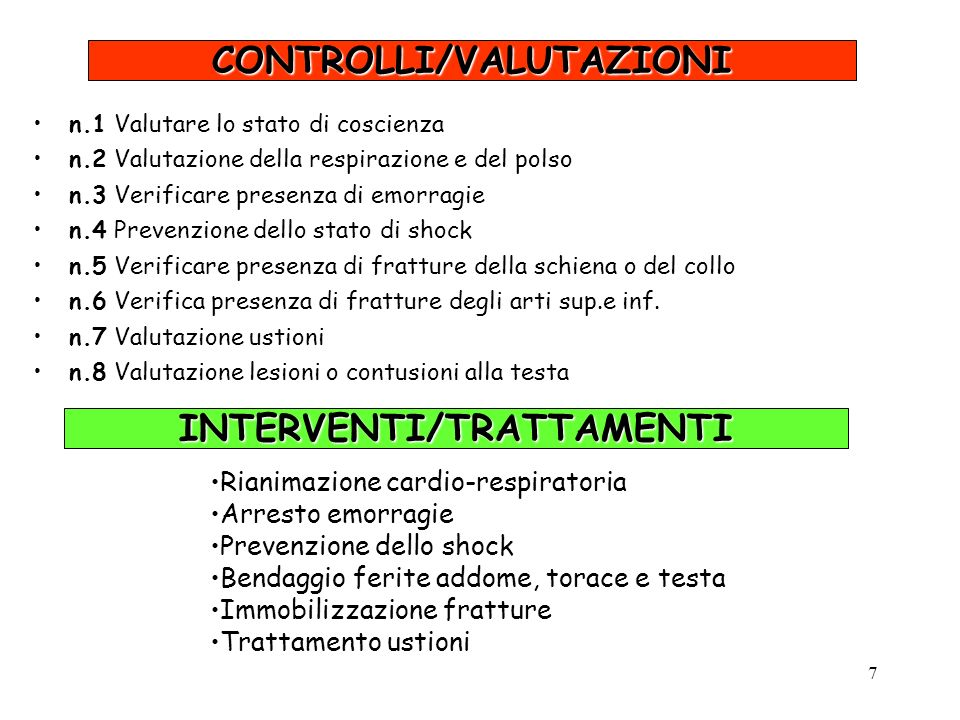 CONTROLLI/VALUTAZIONI INTERVENTI/TRATTAMENTI