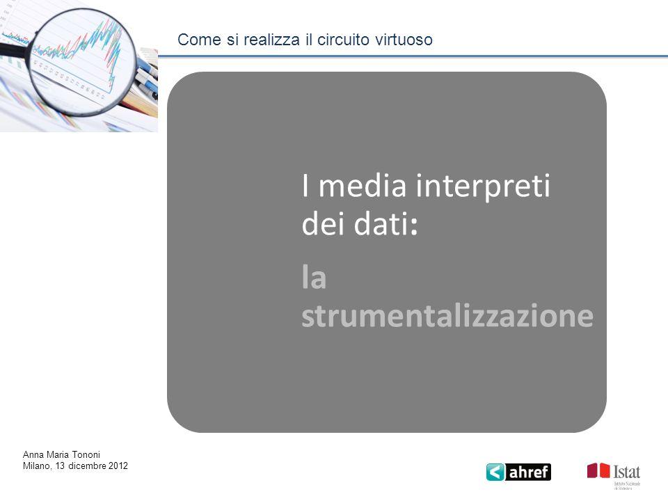 I media interpreti dei dati: la strumentalizzazione