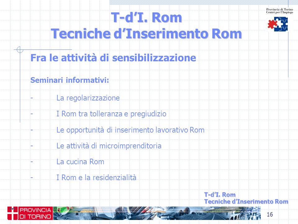 T-d'I. Rom Tecniche d'Inserimento Rom