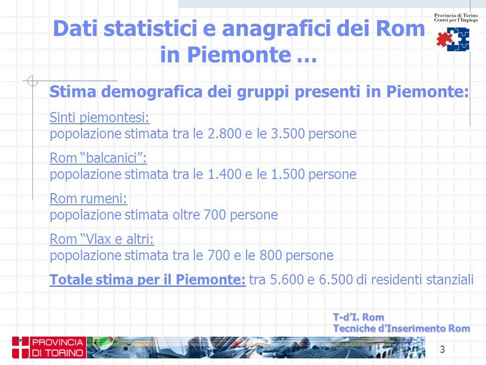 Dati statistici e anagrafici dei Rom in Piemonte …