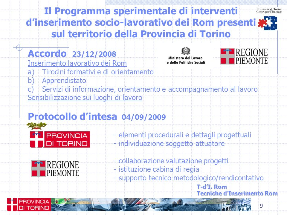 Protocollo d'intesa 04/09/2009