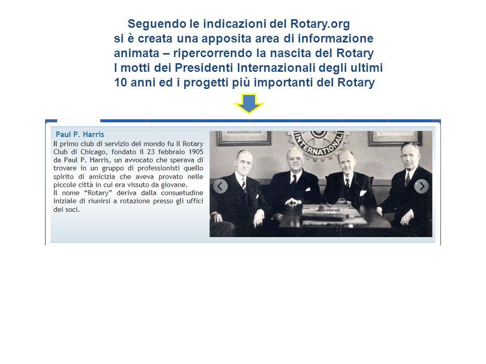 Seguendo le indicazioni del Rotary.org