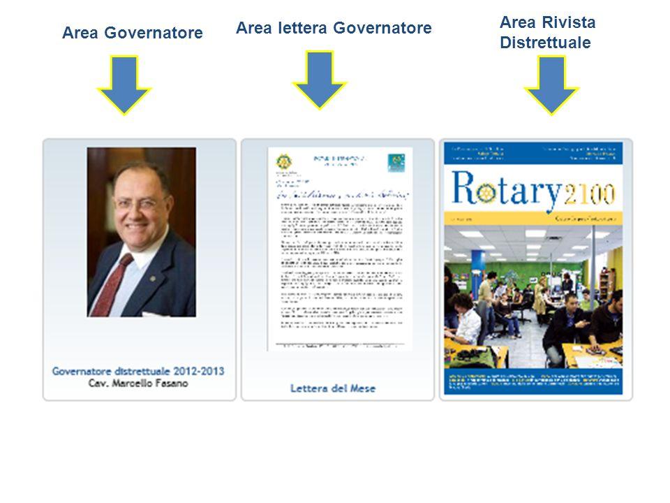 Area Rivista Distrettuale Area lettera Governatore Area Governatore
