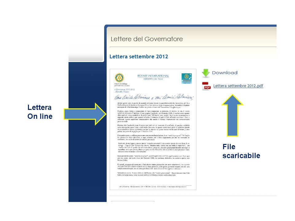 Lettera On line File scaricabile