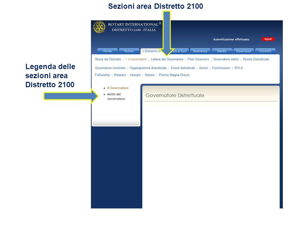 Sezioni area Distretto 2100