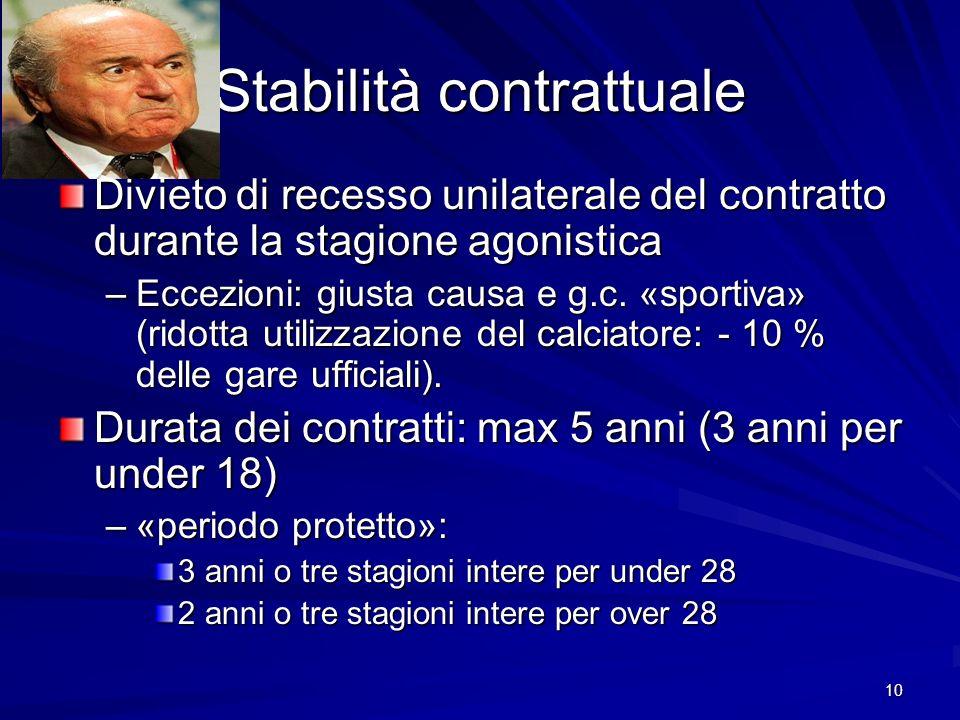 Stabilità contrattuale