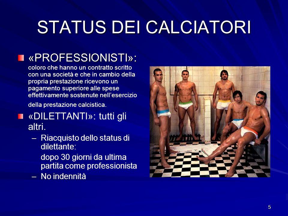 STATUS DEI CALCIATORI