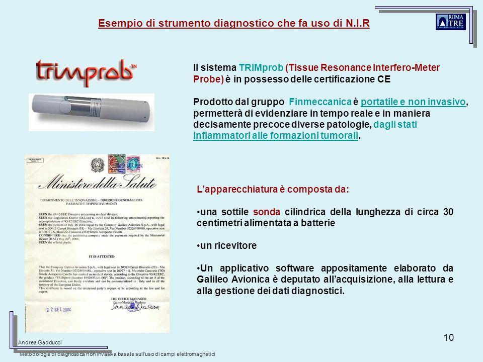 Esempio di strumento diagnostico che fa uso di N.I.R