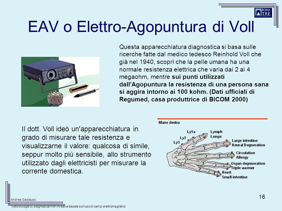 EAV o Elettro-Agopuntura di Voll