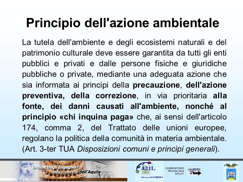 Principio dell azione ambientale