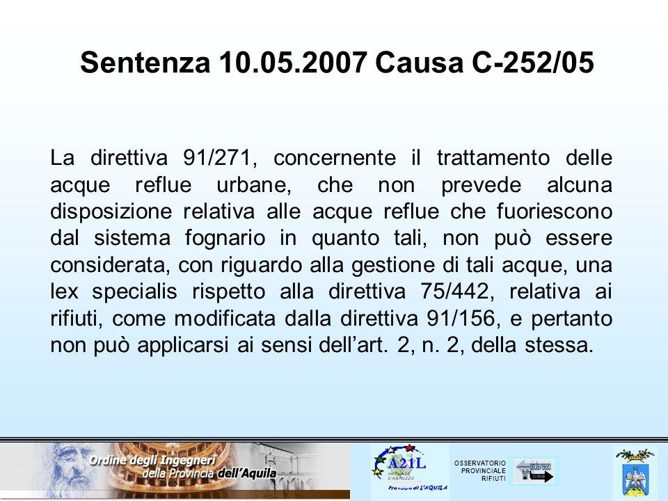 Sentenza 10.05.2007 Causa C‑252/05