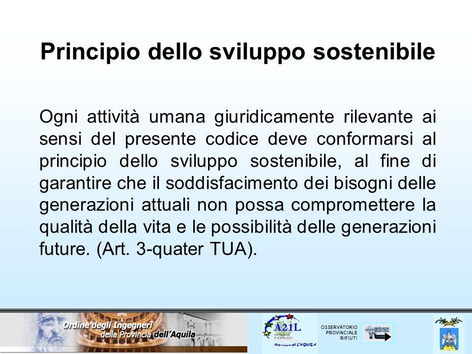 Principio dello sviluppo sostenibile