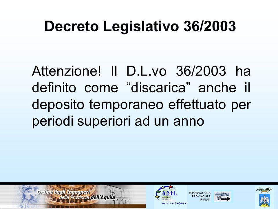 Decreto Legislativo 36/2003