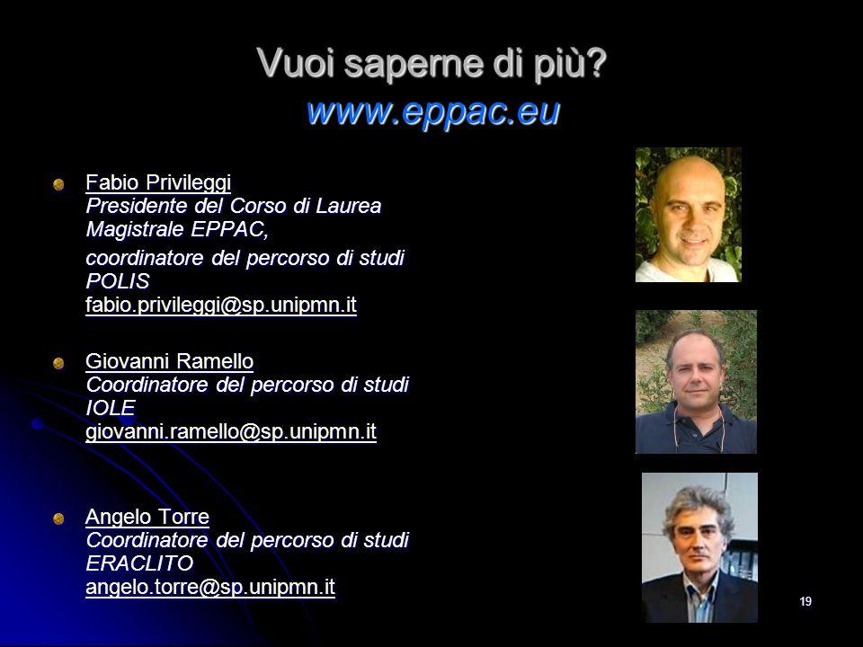 Vuoi saperne di più www.eppac.eu