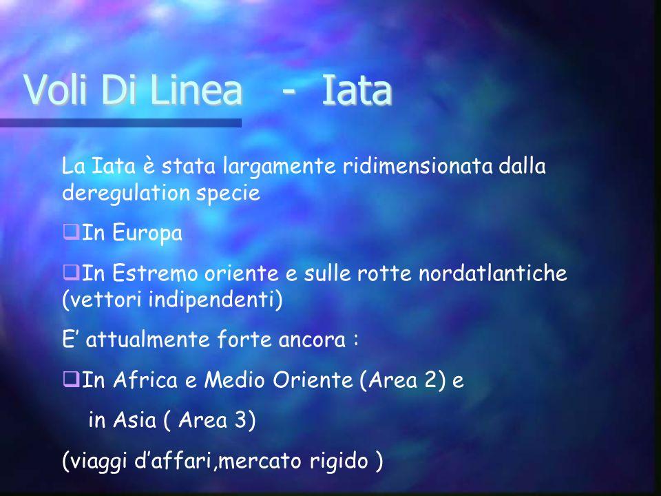 Voli Di Linea - IataLa Iata è stata largamente ridimensionata dalla deregulation specie. In Europa.