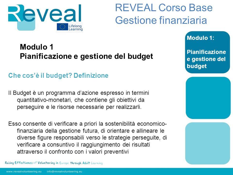 REVEAL Corso Base Gestione finanziaria Modulo 1