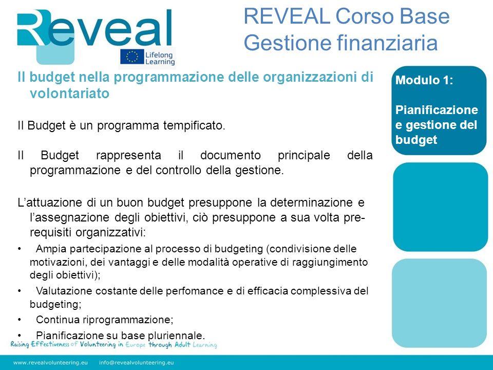 REVEAL Corso Base Gestione finanziaria