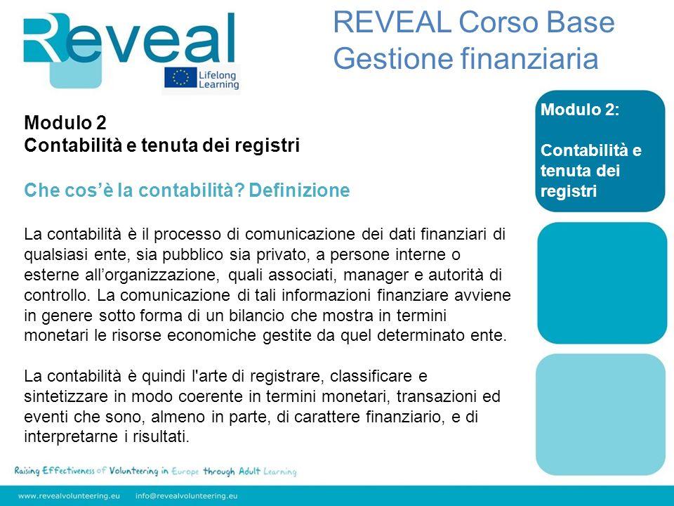 REVEAL Corso Base Gestione finanziaria Modulo 2