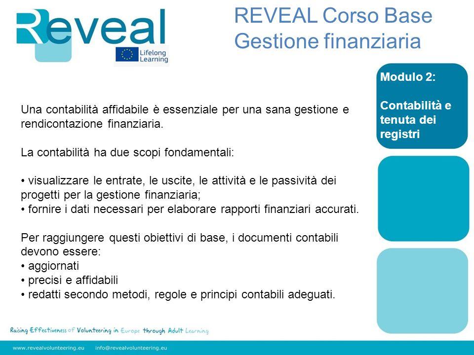 REVEAL Corso Base Gestione finanziaria Modulo 2: