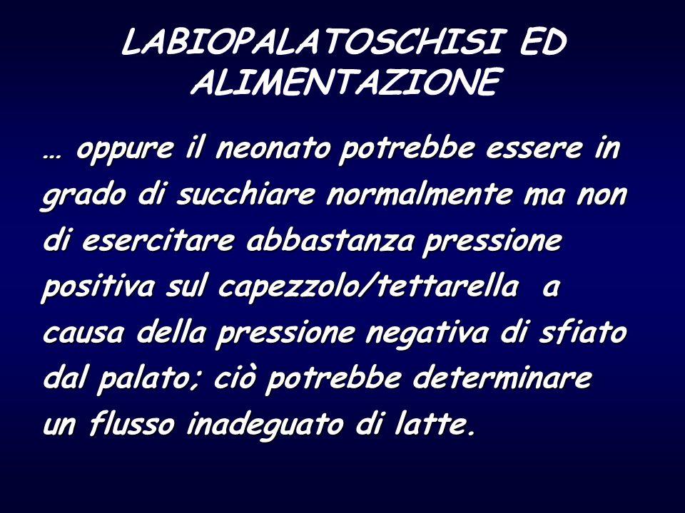 LABIOPALATOSCHISI ED ALIMENTAZIONE