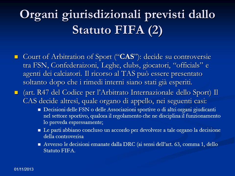 Organi giurisdizionali previsti dallo Statuto FIFA (2)