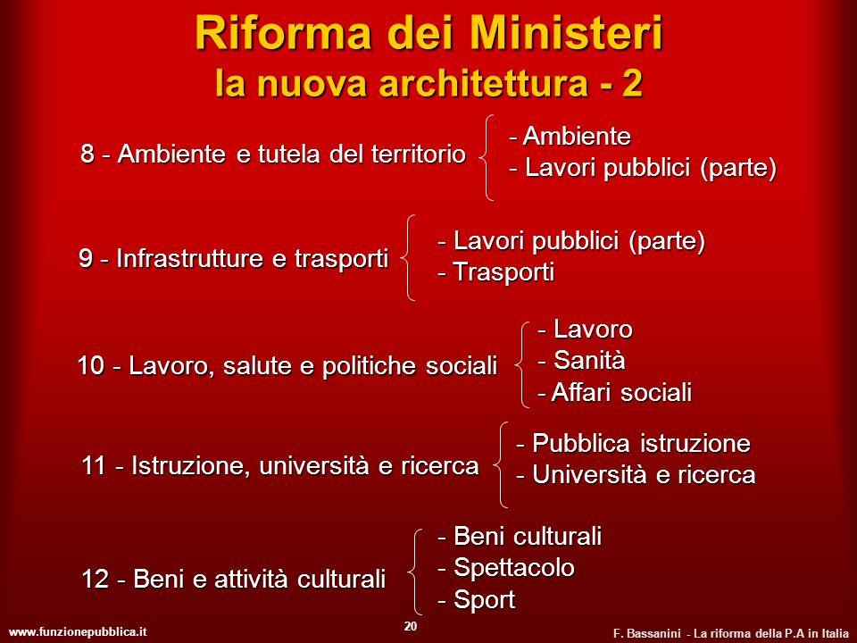 Riforma dei Ministeri la nuova architettura - 2
