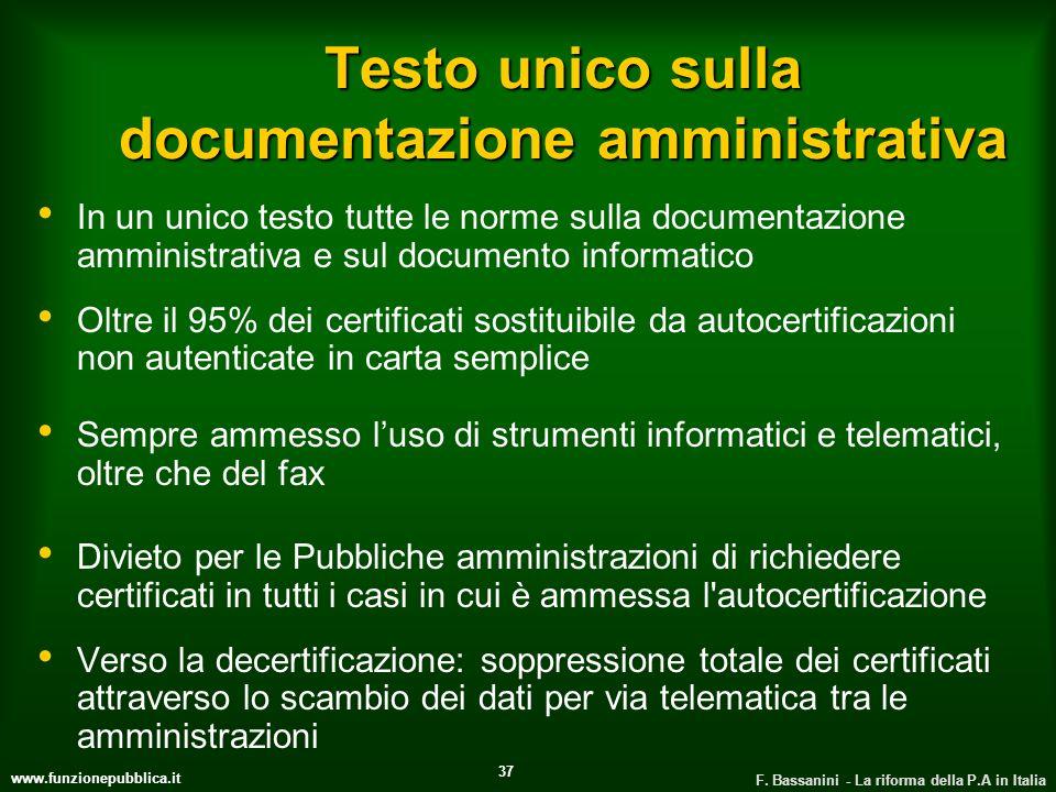 Testo unico sulla documentazione amministrativa