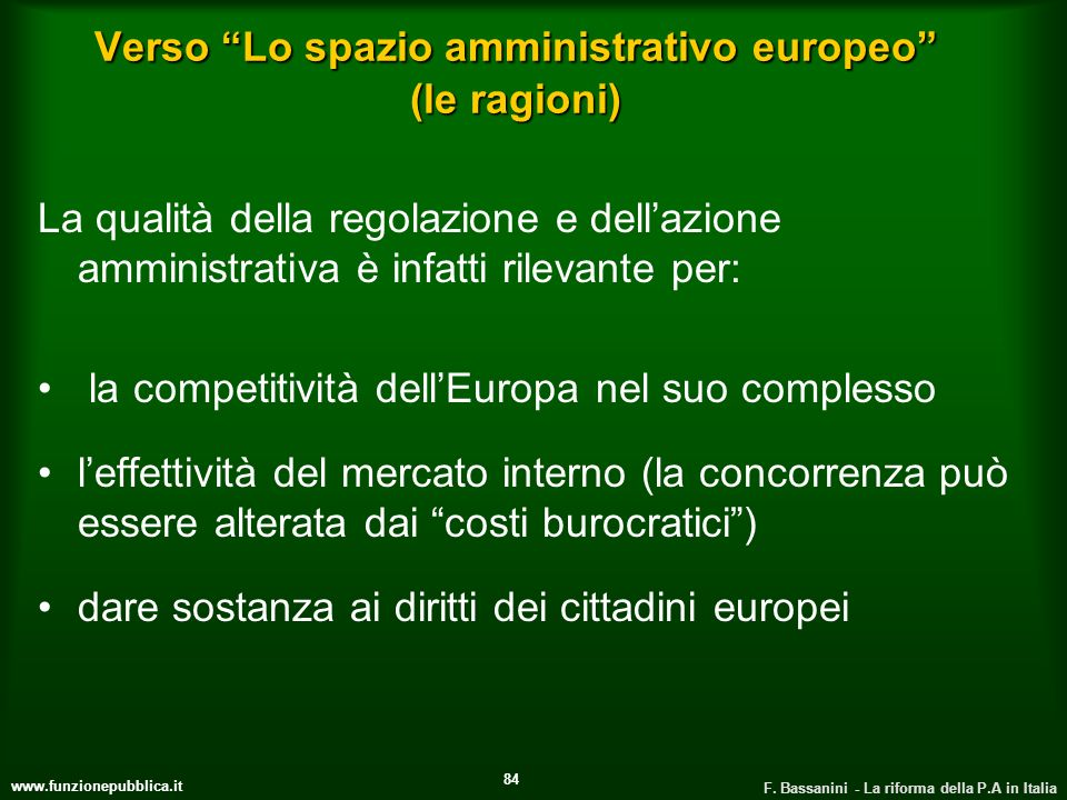 Verso Lo spazio amministrativo europeo (le ragioni)
