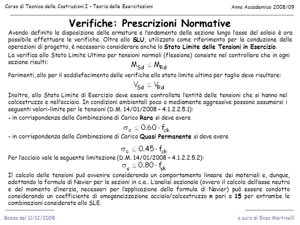 Verifiche: Prescrizioni Normative
