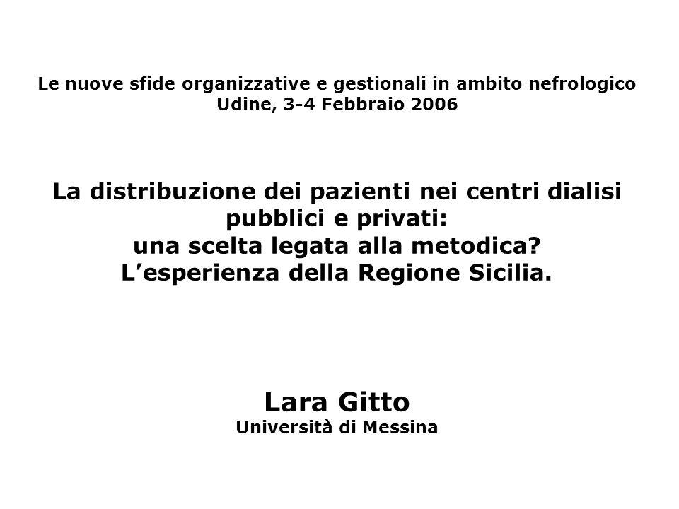 Le nuove sfide organizzative e gestionali in ambito nefrologico