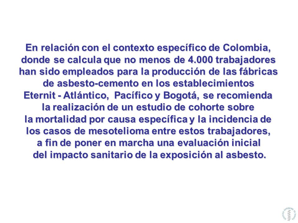 En relación con el contexto específico de Colombia,