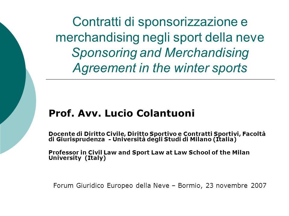 Forum Giuridico Europeo della Neve – Bormio, 23 novembre 2007