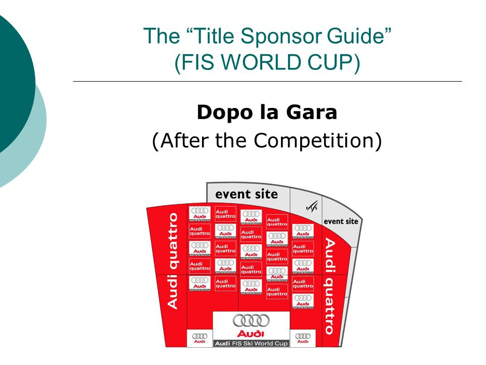 The Title Sponsor Guide (FIS WORLD CUP)