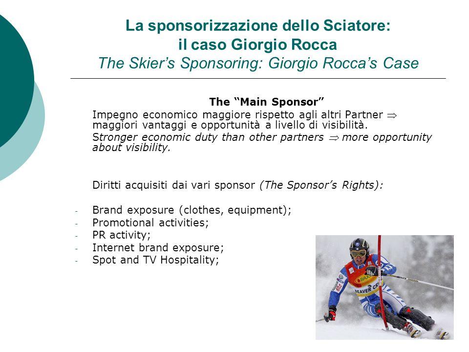 La sponsorizzazione dello Sciatore: il caso Giorgio Rocca The Skier's Sponsoring: Giorgio Rocca's Case