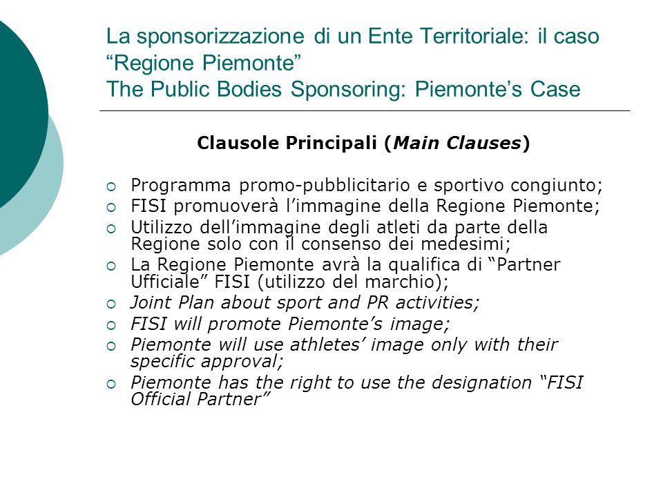 Clausole Principali (Main Clauses)