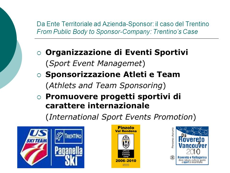 Organizzazione di Eventi Sportivi (Sport Event Managemet)